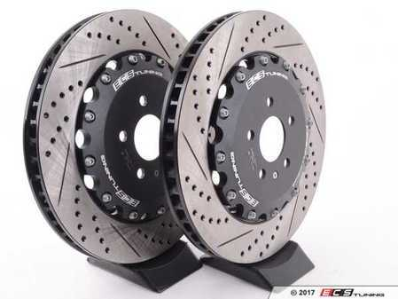 ES#2804479 - 003883ECS01A01KT - Front Cross-Drilled & Slotted 2-Piece Brake Rotors - Pair (380x34) - Replacement set for 380mm Stage 3-4 Big Brake Kits with Audi RS calipers - ECS - Audi
