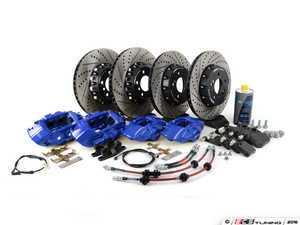 ES#3195909 - 009607ECS01AKT12 - ECS M Performance Front & Rear Big Brake Kit - Blue - Upgrade to M Performance calipers, 370x30mm 2-piece rotors, Genuine BMW pads, & ECS Exact-fit brake lines - ECS - BMW