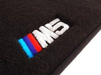 ES#194632 - 82110009046 - ///M Carpeted Floor Mats - Anthracite/Black - Features stitched M5 logo. Complete set of four. - Genuine BMW - BMW