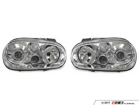 ES#3220967 - 441-1183PXLDHE1 - OE HID Replica Projector Headlight Set - Chrome - With fog lights, with clear turn signal lenses - Depo - Volkswagen