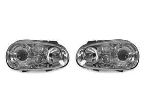 ES#3220968 - 441-1183PXNDAE1 - Projector Headlight Set - Chrome - With fog lights, with clear turn signal lenses - Depo - Volkswagen