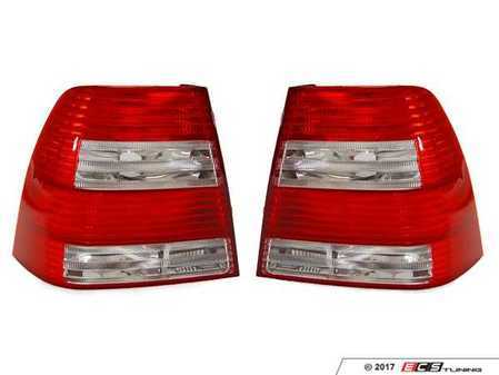 ES#3220952 - 341-1913P-US-CR - Late Sedan Tail Light Set - Tail lights from 2004 - 2005 sedan models with red/clear/red/clear lenses - Depo - Volkswagen