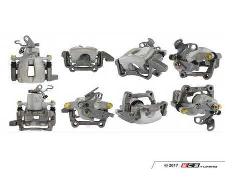 ES#3245574 - 141.33589KT - Rear Semi-Loaded Rear Brake Caliper - Right - Price includes $135 refundable core charge. Includes bracket, cable guide, and lever - Centric - Audi Volkswagen