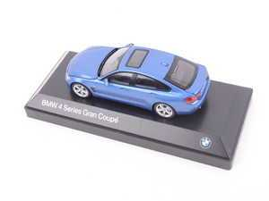 ES#2912439 - 80422348792 - 1:43 BMW 4-Series Gran Coupe Scale Model - Blue - A perfect addition to any enthusiast's die-cast collection - Genuine BMW - BMW