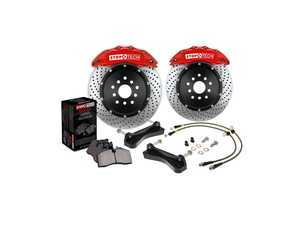 ES#3125132 - 83.893.4300.23 - StopTech Big Brake Kit (328x28) - Featuring 2-Piece slotted rotors and blue, 4-piston calipers - StopTech - Audi Volkswagen
