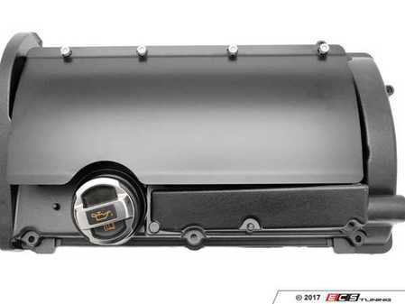 ES#3236029 - 034-107-Z018-P - Stainless Steel Coil Cover - Powdercoated Black - Precision stamped and bent 304 Stainless coil cover with hardware - 034Motorsport - Audi