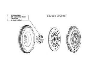 ES#3221477 - 883089000046 - Stage 2 Performance Clutch Kit - With Single Mass Flywheel - Features a sprung-hub disc which can handle up to 390 lb-ft of torque - SACHS Performance - Audi Volkswagen