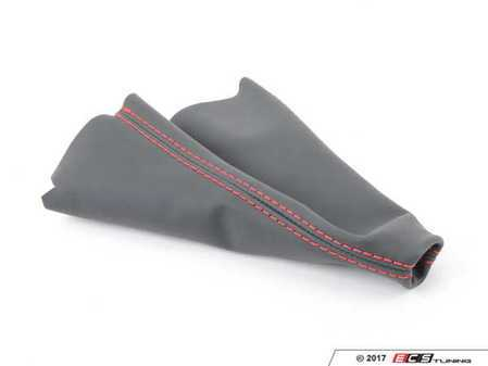 ES#3177998 - 5234-1J-502 - BFI Manual Leather Shift Boot - Red Stitching - Compliment your BFI shift knob with a custom shift boot made from the finest materials available - Black Forest Industries - Volkswagen