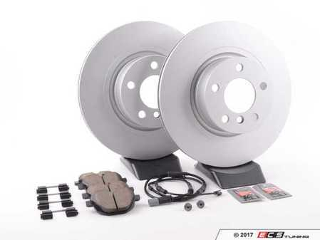 ES#3047779 - 34106787490KT3 - rear brake service kit  - Featuring Zimmermann coated rotors and Akebono pads - Assembled By ECS - BMW