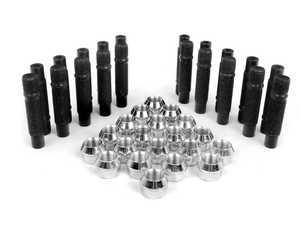 ES#2842170 - PRF75CH5KT1 - Wheel Stud Conversion Kit - Full Set - Make wheel changes faster and easier, enough to convert both axles - ECS - BMW