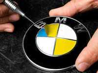 ES#3023545 - RD130 - roundel overlay - Dakar Yellow  - Includes enough overlays for hood, trunk and wheel roundels! - Turner Motorsport - BMW