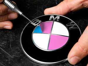 ES#3025172 - RD408 - roundel overlay - Bubblegum Pink - Includes enough overlays for hood, trunk and wheel roundels! - Turner Motorsport - BMW