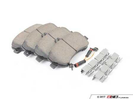 ES#3184252 - 0074207420 - Front Brake Pad Set - Includes new shims, and sensors - Does not include bolts - Akebono - Mercedes Benz