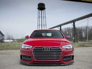 ES#3146390 - 019196ECS01A - Carbon Fiber Front Lip Spoiler  - Hand-laid carbon fiber to upgrade your exterior styling - ECS - Audi