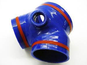 ES#747 - TB755BLU - Throttle Body Boot - Blue - Replaces the troublesome and weak 'Y' boot - Samco - Audi