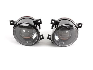 ES#240971 - 1k0998018 -  Projector Fog Light Assembly - Pair - Get increased light output with these plug-n-play projector fog lights - 9006 Bulbs Included - ZiZa - Volkswagen