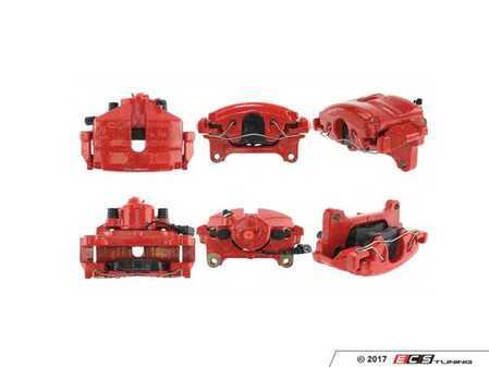 ES#3245622 - 142.33266KT - Posi-Quiet Front Brake Caliper - Left - Price includes $65 refundable core charge. Remanufactured loaded caliper with red paint. - Centric - Volkswagen