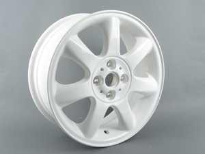 """ES#65022 - 36116775800 - R94 Bridge Spoke Wheel 16"""" (4x100) White - Priced Each - 16 X 6.5 ET:48 - Genuine MINI - MINI"""