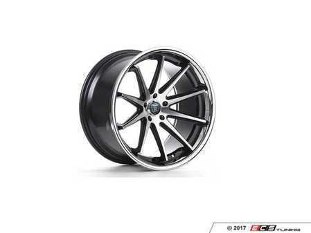 "ES#3241066 - rc1019855112mkt1 - 19"" RC10 Wheels - Set Of Four - 19""x8.5"", ET42, CB66.6, 5x112 - Machined Black / Chrome Lip - Rohana Wheels - Audi Volkswagen"