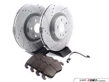 ES#3194981 - K6140 - Z23 Evolution Sport Performance Front Brake Service Kit - Includes Evolution Tru-Cast Drilled & Slotted rotors paired with Evolution Sport Pads - Power Stop - Audi