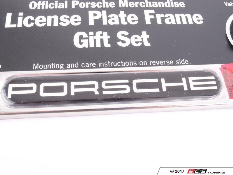 Genuine Porsche - PNA70400744 - Porsche License Plate Frame Gift Set
