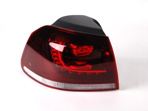 ES#2550922 - 5K0945095Q - LED Tinted Tail Light - Left Outer - Replacement for MKVI R LED Tail light set - Genuine European Volkswagen Audi -
