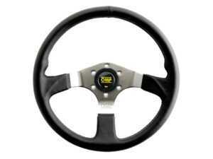ES#3240988 - OD/2019 - Asso Racing Steering Wheel - Black Leather - Universal sport steering wheel with a 350mm diameter. - OMP - BMW MINI
