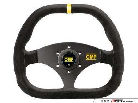 ES#3192156 - OD/1985 - Kubic Racing Steering Wheel - Black/Yellow Suede - Universal sport steering wheel with a 310x265mm diameter. - OMP - BMW