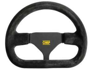 ES#3192162 - OD/2016 - Indy Racing Steering Wheel - Black Suede - OMP - BMW