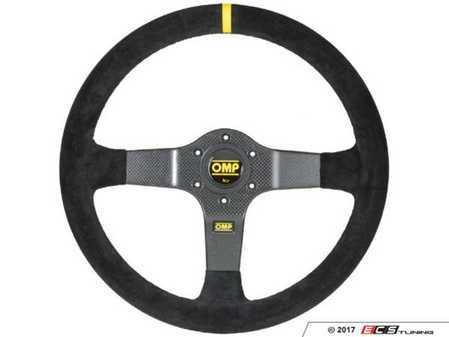 ES#3192167 - OD/2028 - 350 Carbon RAcing Steering Wheel - Black suede - Universal sport steering wheel with a 350mm diameter. - OMP - BMW