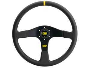 ES#3192168 - OD/2030 - Velocita 380 Racing Steering Wheel - Black/Yellow Leather - OMP - BMW