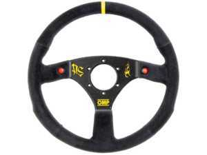 ES#3192169 - OD/2032 - 320 Carbon S Racing Steering Wheel - Black/Yellow Suede - Universal sport steering wheel with a 320mm diameter. - OMP - BMW
