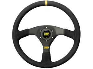 ES#3192149 - OD/1958 - Velocita Racing Steering Wheel - Black/Yellow Suede - Universal sport steering wheel with a 350mm diameter. - OMP - BMW