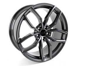 """ES#3171179 - VWR610360GUNKT - 19"""" R360 - Set Of Four - 19""""x8.5"""" ET43 5x112 - Gunmetal Grey - Racingline - Audi Volkswagen"""