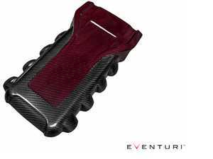 ES#3245382 - EVERS5-KV-ENG-RB - Engine Cover - Two Tone (Red/Black Kevlar)  - Add a touch of two tone kevlar to your engine bay! - Eventuri - Audi
