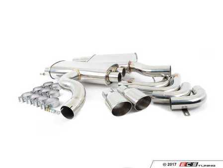 """ES#3193051 - EXH-CB-0020-2 - MK7 Golf R Performance Cat-Back Exhaust System - 3"""" Stainless Steel exhaust for great sound featuring 4.0"""" tips with the CTS logo - CTS - Volkswagen"""