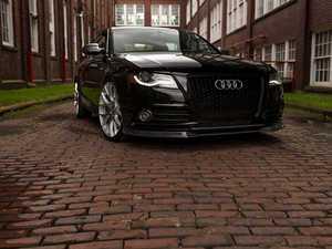 ES#3170969 - 006364ECS01A -  Carbon Fiber Front Lip Spoiler  - Hand-laid carbon fiber to upgrade your exterior styling - ECS - Audi