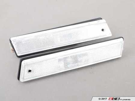 ES#3220931 - 341-1403PTU-VC - Rough Style Side Marker Set - Clear - Clear side markers with faceted lenses - Depo - Volkswagen