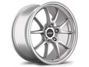 18 inch APEX FL-5 Staggered Wheel Set - Race Silver