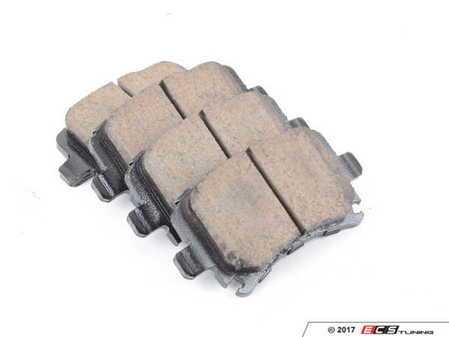 ES#1848550 - EUR1348 - Rear Euro Ceramic Brake Pad Set - Ceramic composite developed to meet low dust & noise requirements - Akebono - Audi Volkswagen