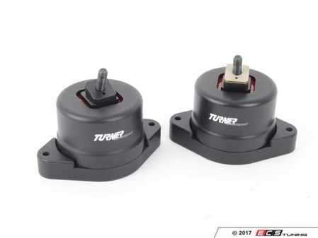 ES#3221505 - 002445TMS01 - Turner N52/N54/N55 Polyurethane Engine Mount Set - 60A - Performance engine mounts to increase drivetrain rigidity; industry leading design without the noise and vibration of typical polyurethane mounts. - Turner Motorsport - BMW