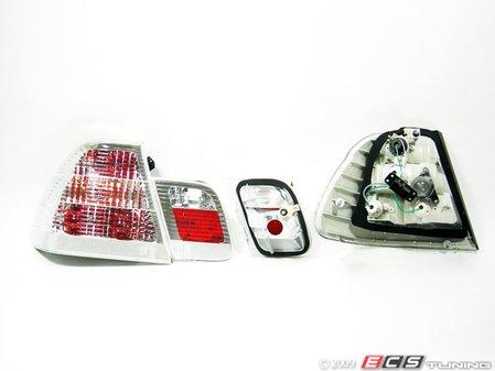 ES#10716 - FKRL1213 - FK Design Tail Lights - Crystal White - Crystal clear / white tail light set - FK -