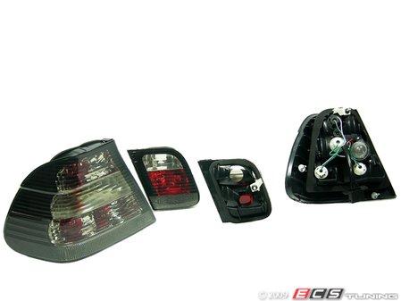 ES#10717 - FKRL1215 - FK Design Tail Lights - Crystal Black - Crystal black tail light set - FK -