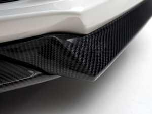 ES#3487317 - 021104ecs01-01kt - 3-Piece Front Splitter - Carbon Fiber - Add an aggressive, lower appearance to your front bumper - ECS - Volkswagen