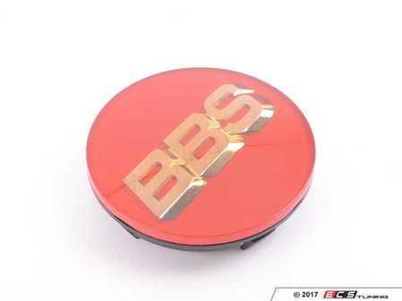 ES#3426575 - 56.24.100 - BBS Center Cap 56mm Red/Gold (56.24.012) - BBS Center Cap - Red w/ Gold 3D Logo (4-tab) - BBS - Volkswagen MINI