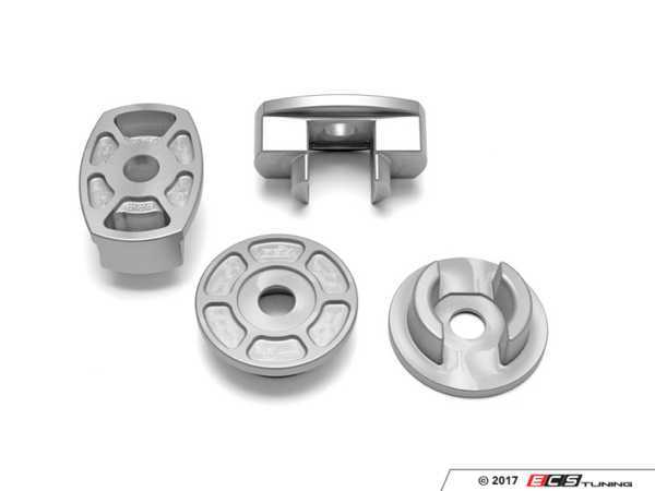 ES#3247809 - 034-601-0046 - Billet Aluminum Rear Subframe Mount Insert Kit  - Maintain proper suspension geometry when cornering and reduce rear subframe movement - 034Motorsport - Audi