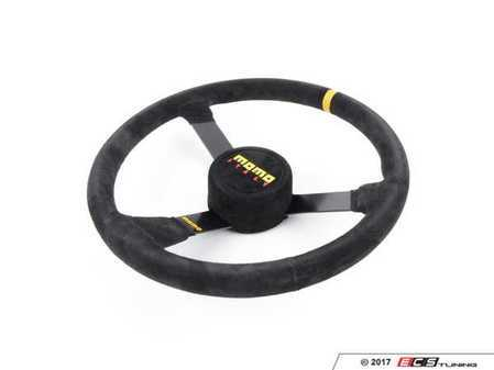 ES#3135841 - R1971/38S - MOMO MOD. N38 Steering Wheel - 380mm - Customize your driving experience with this fine suede steering wheel - MOMO - Audi BMW Volkswagen Mercedes Benz MINI Porsche