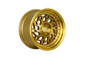 "ES#3247885 - r3218855112gdKT1 - 18"" R32 Wheels - Set Of Four - 18""x8.5"", ET40, 5x112 - Brushed Gold / Gold Lip - Regen5 - Audi Volkswagen"