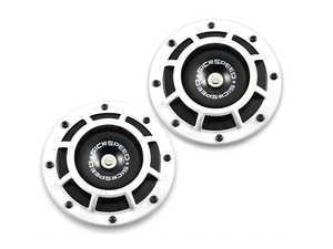ES#3247902 - BTH-S203WH - 2 Piece Super Loud Horn Kit - White - Upgraded 118dB horns in the color of your choice - Sickspeed - Audi BMW Volkswagen Mercedes Benz MINI Porsche