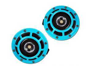 ES#3247903 - BTH-S203TL - 2 Piece Super Loud Horn Kit - Teal - Upgraded 118dB horns in the color of your choice - Sickspeed - Audi BMW Volkswagen Mercedes Benz MINI Porsche
